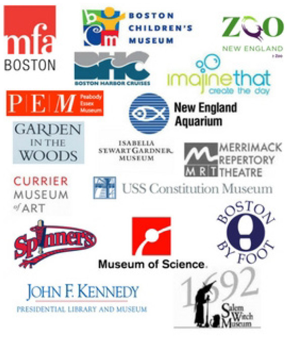 A picture of reserve museum pass logos.