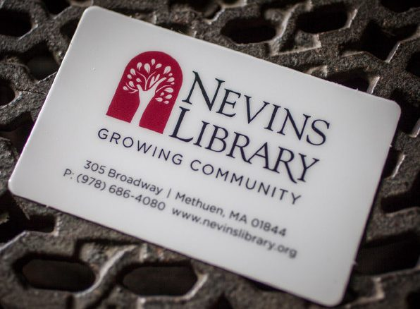A picture of a Nevins Library card.