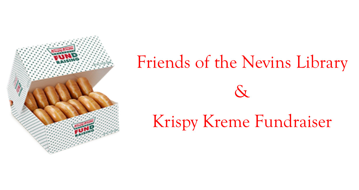 Krispy Kreme Donuts in a Fundraising box and Friends of the Library Text