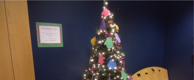 Giving Tree in the Nevins Library Children's Room