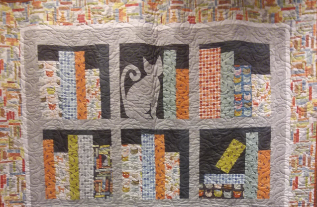 Raffled off Book Quilt