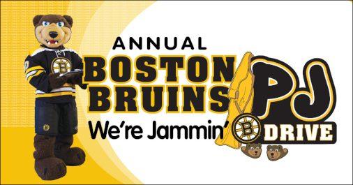 Boston Bruins PJ Drive Logo and Bear