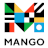 "Mango ""M"" Logo with Mango in small letters underneath"