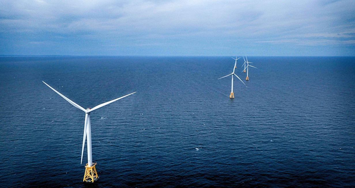 Picture of 6 Wind Turbines off the coast of Block Island