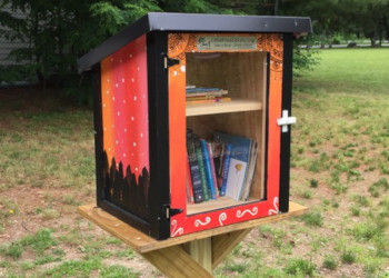 Little Free Library at Riverside Park in Methuen
